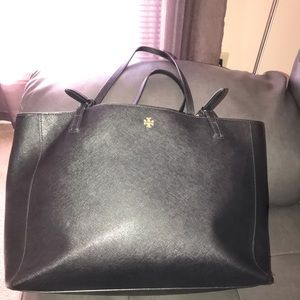 Authentic Tory Burch Black Tote Purse